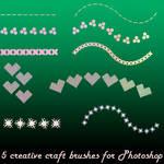 5 creative craft brushes for Photoshop