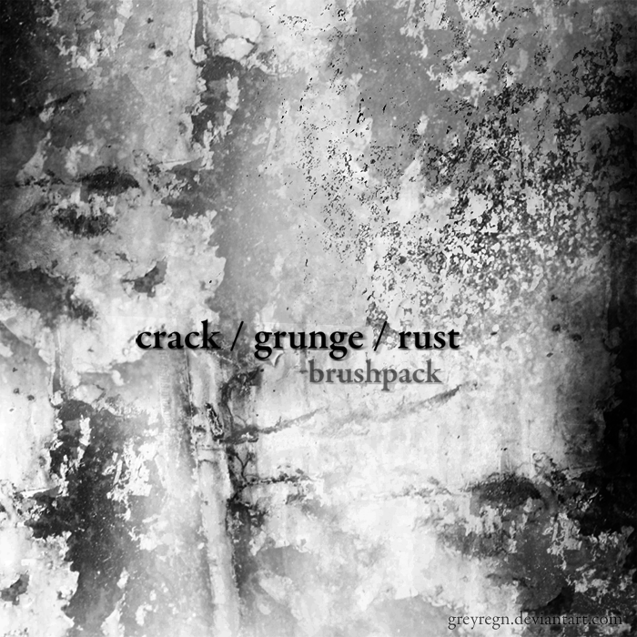 crack, grunge, rust brushes by greyregn