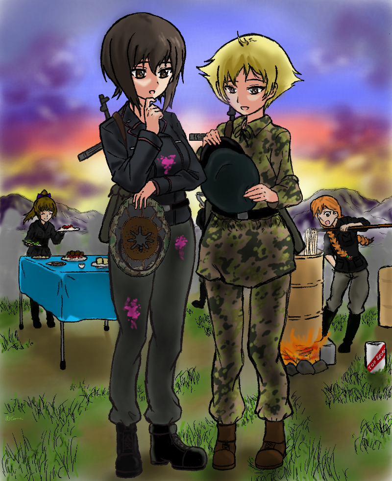 Girls und Panzer Omake 7: Girls und Paintball Pt.6 by KilroyLW