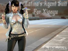 Xiaoyu's Zafina Agent Suit Cosplay (Tekken 7 Mods)