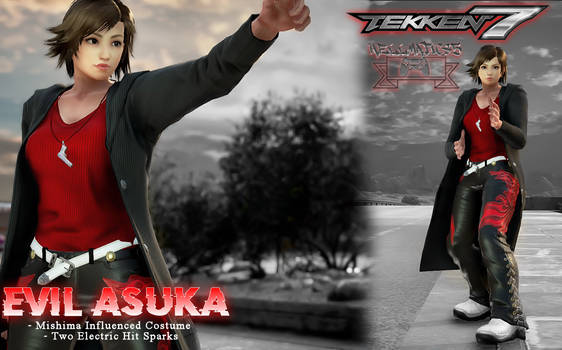 Evil Asuka Costume And Hit Sparks (Tekken 7 Mods)