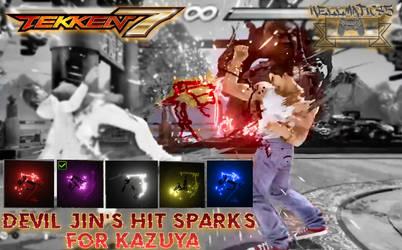 Devil Jin's Hit Sparks For Kazuya (Tekken 7 Mods)