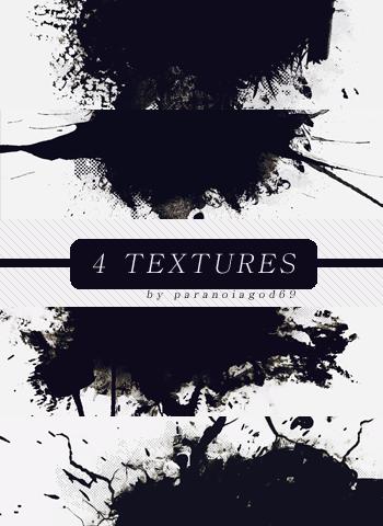 4 Splatter Textures by ParanoiaGod69