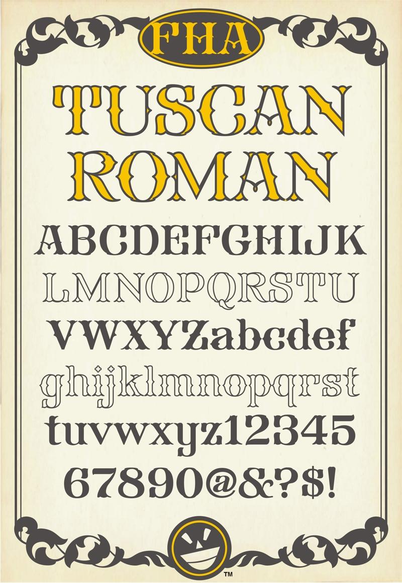 FHA Tuscan Roman NCV Font By Phrostbyte64