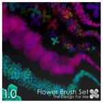 Flower Brush Set - Floral