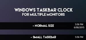 Windows Taskbar Clock - for dual monitor setups