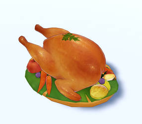 Roast Chicken - 3D Model Download