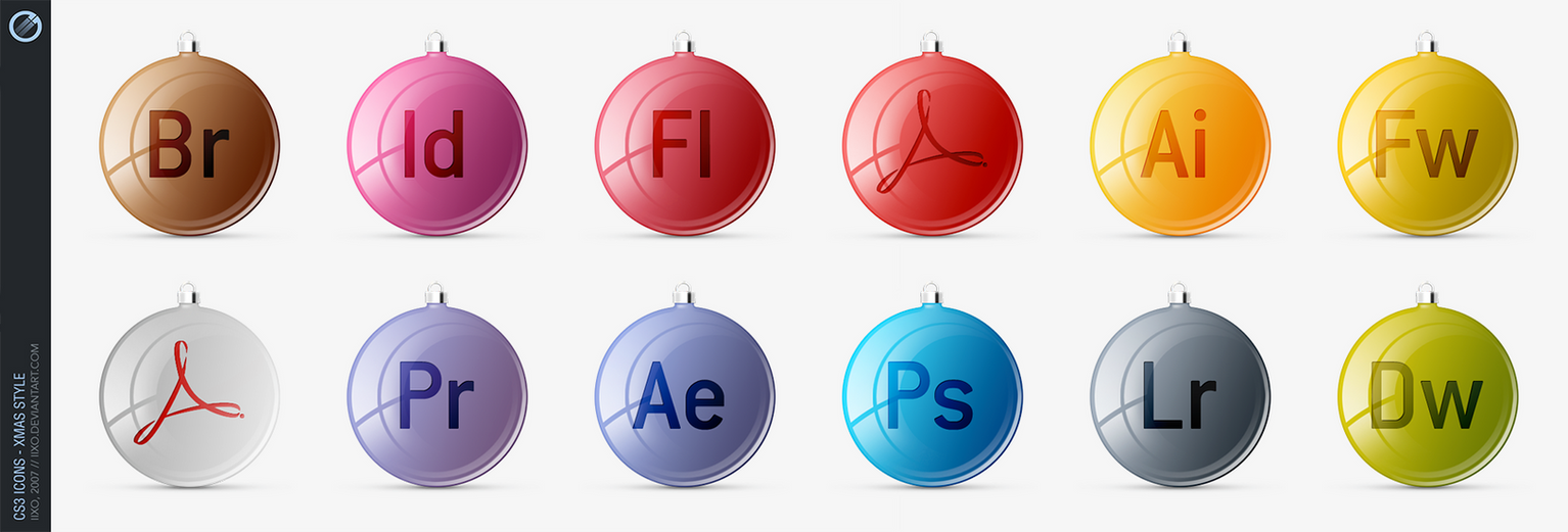 Adobe CS3 Icons - xMas style by iixo