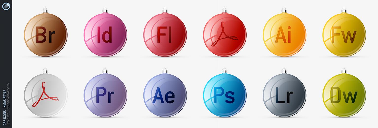 Adobe CS3 Icons - xMas style by iixo