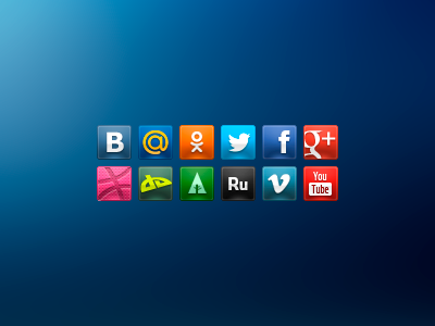 Free Social Icons by drible