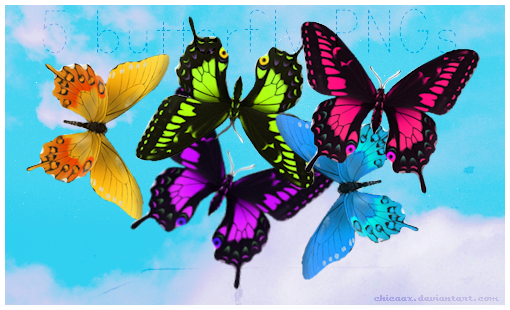 Butterfly PNGs by chicaax
