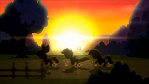 Hearts Strong as Horses Sunset Run (Animated)