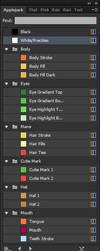 Main 6 Pony Swatches for Adobe by Rubez2525