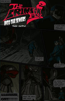 The Crimson Fly- Into the Sewers- Page Sample