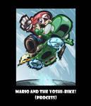 Process (Mario Kart 8): Mario and the Yoshi Bike