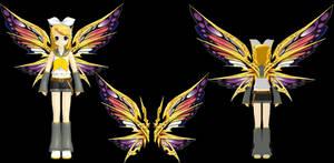 Rappelz:Shoulder decoration(Golden Butterfly Wing)