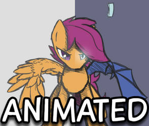 Animated Scootaloo disguise by DarkFlame75