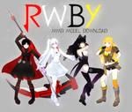 MMD- .::TEAM RWBY+DOWNLOAD::.