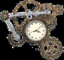 Steampunk Gear Clock XWidget by Adiim