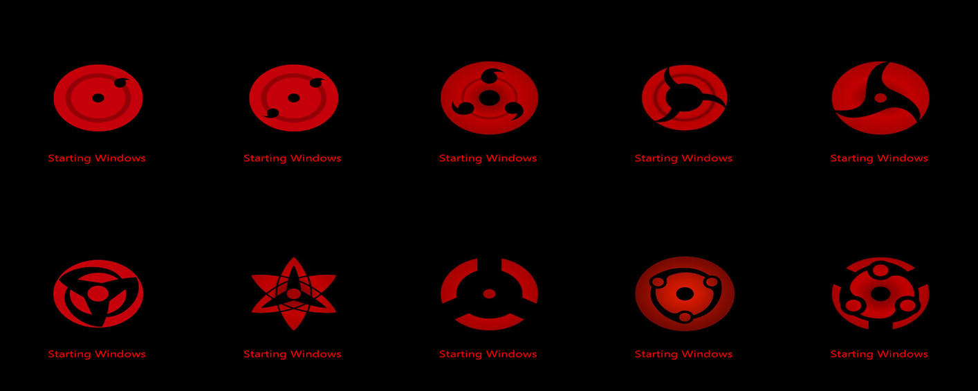 Sharingan Eye Boot Screen by