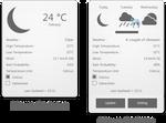 Gray Weather XWidget