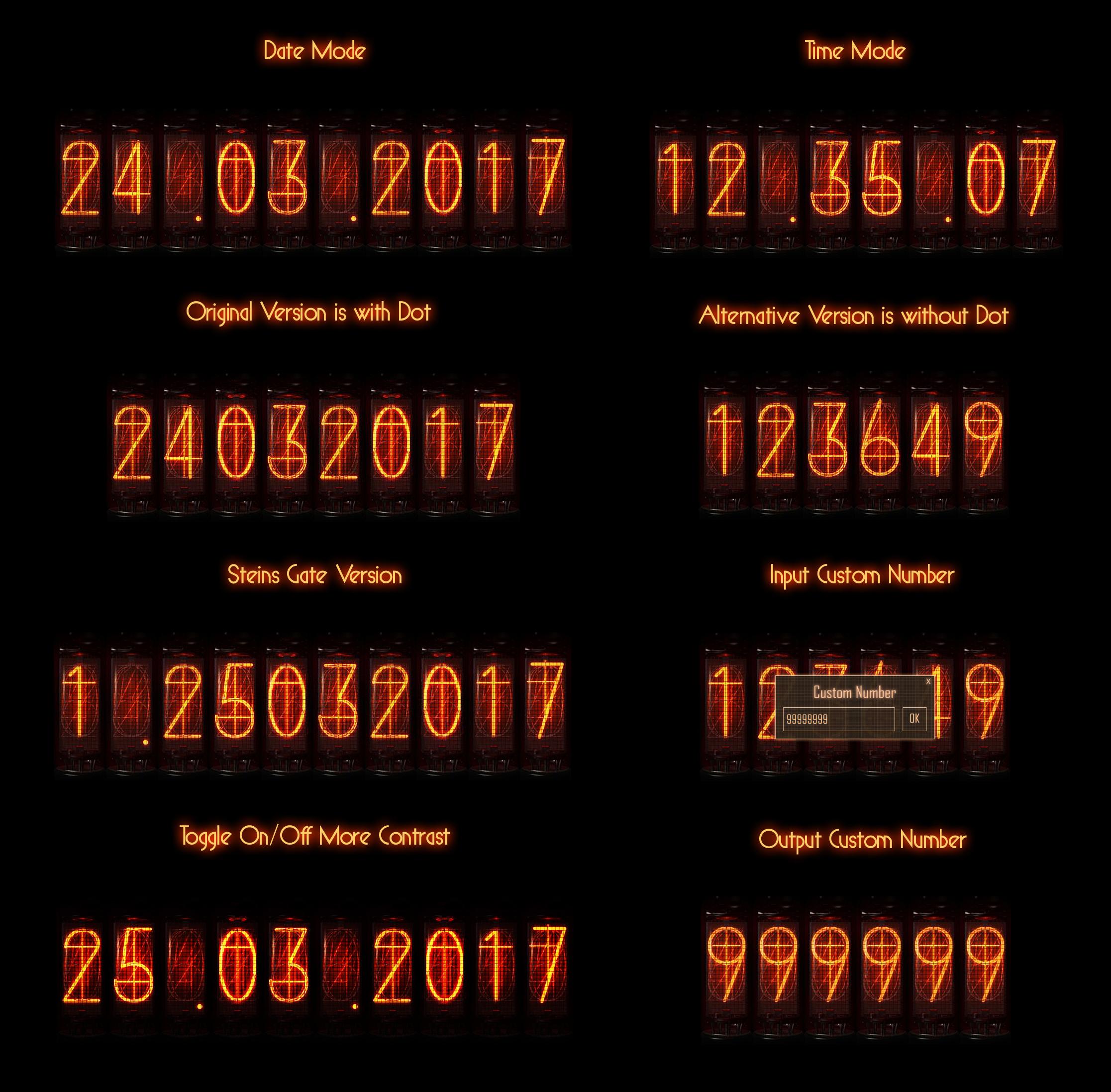 Nixie Tube Steins Gate Date Time By Adiim On Deviantart