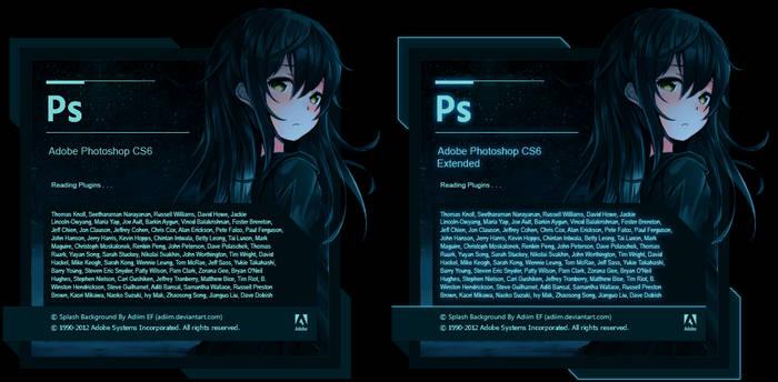 Splash Screen Adobe Photoshop CS6/Extend Mikazuki