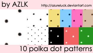 Polka Dot Patterns by Azureluck