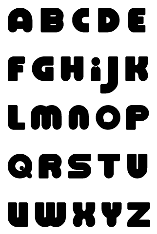 Tomodachi Font by Pokemon-Diamond