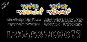 Font Pack: Let's Go Pikachu and Eevee