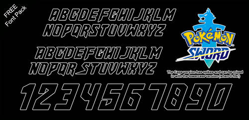 Font Pack: Sword by Mucrush
