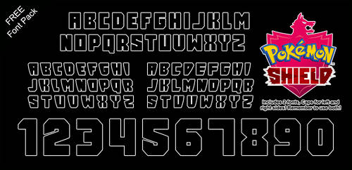 Font Pack: Shield by Mucrush