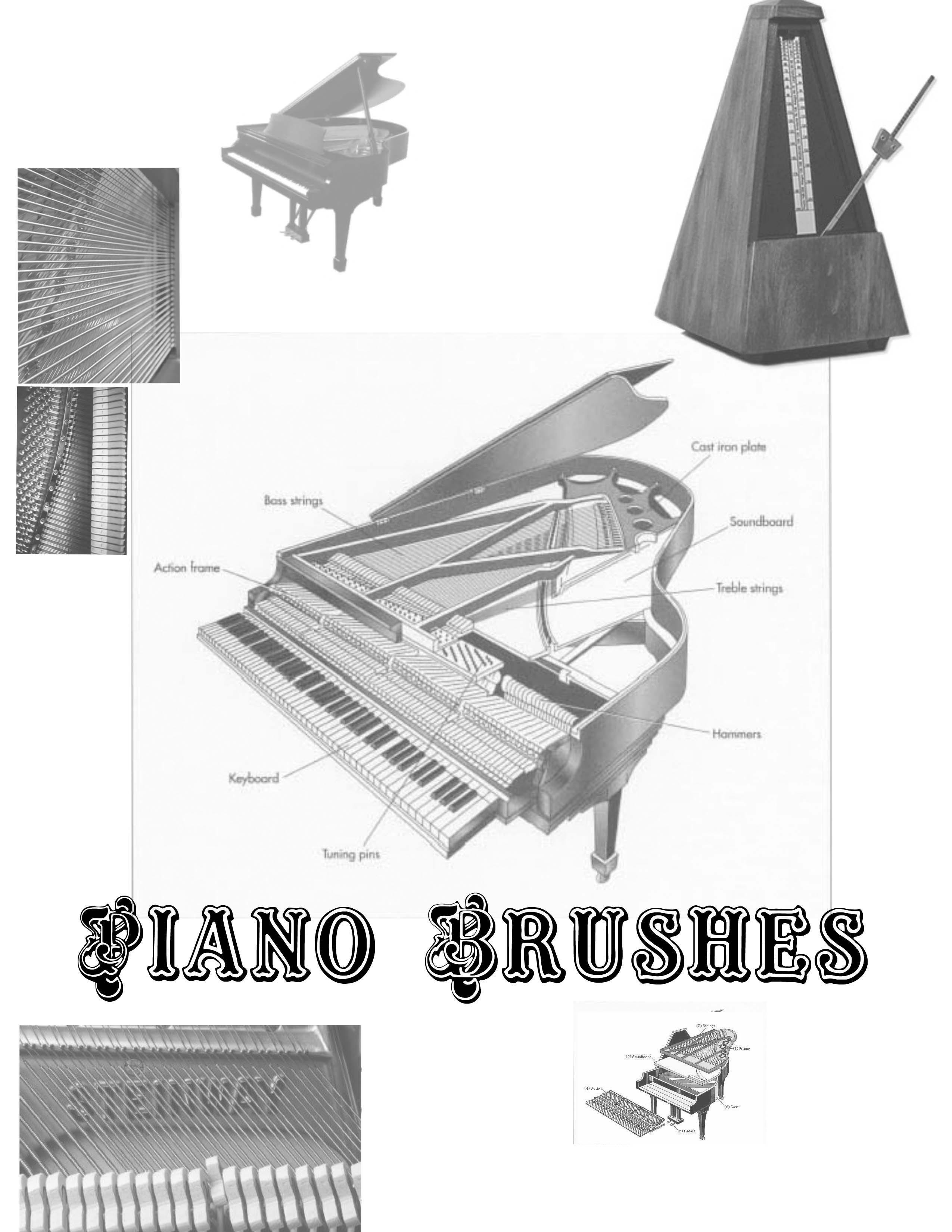 Piano Photoshop Brushes by Loganzw