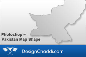 Pakistan Map Custom Shape by dannycg