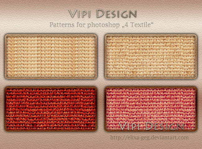 Patterns for photoshop - 4 Textile by elixa-geg