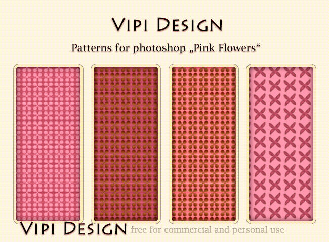 Patterns - Pink Flowers by elixa-geg