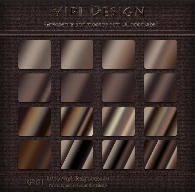 Gradients for photoshop - Chokolate by elixa-geg