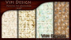 Wall patterns for photoshop by elixa-geg