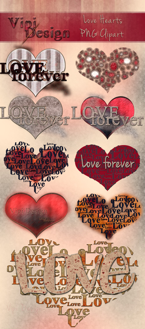 PNG Clipart - Love Hearts by elixa-geg