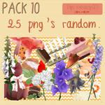 Pack 10 - 25 png's random.