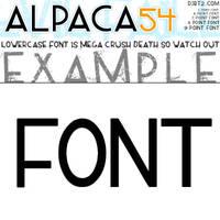 ALPACA54 TTF FONT by KeepWaiting