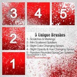 Random Splatter Brushes PS7+ by KeepWaiting
