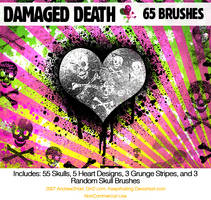 damagedDEATHskulls PS7 Brushes
