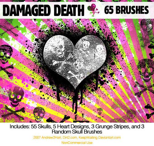 damagedDEATHskulls PS7 Brushes by KeepWaiting