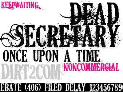 DEAD SECRETARY FONT by KeepWaiting