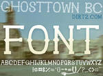 Ghostown BC Font NonCommercial