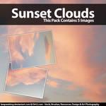 Beautiful Sunset Clouds Stock