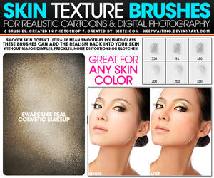 Skin Texture Photoshop Brushes by KeepWaiting