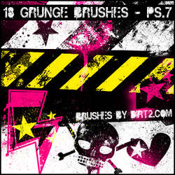 Grunge Shapes PS 7.0 Brushes by KeepWaiting