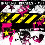 Grunge Shapes PS 7.0 Brushes